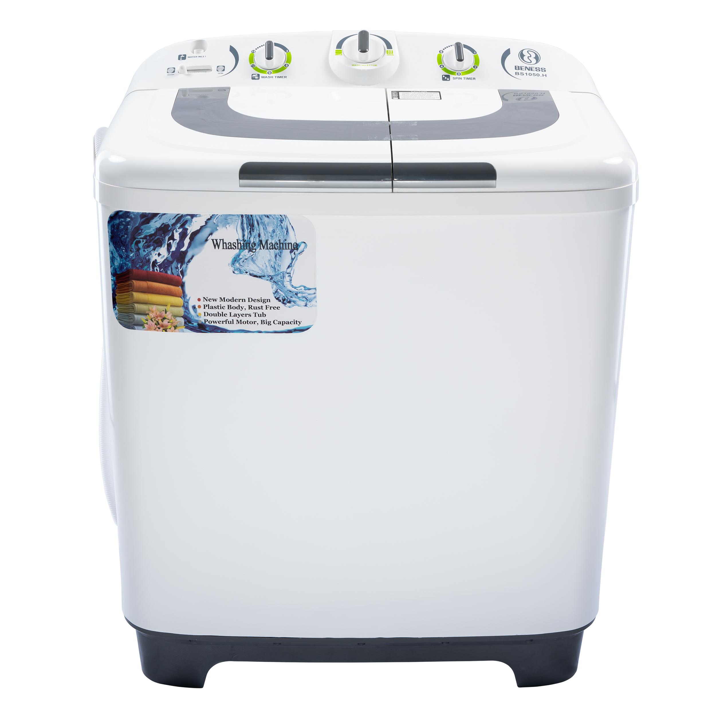 ماشین لباسشویی بنس مدل BS1050.H ظرفیت 10.5 کیلوگرم