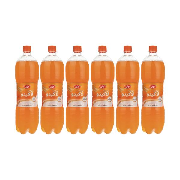 نوشابه پرتقالی لاکیدو کاله - 1.5 لیتر بسته 6 عددی