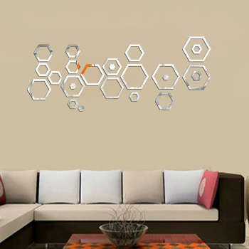 آینه دکوراتیو طرح لانه زنبور