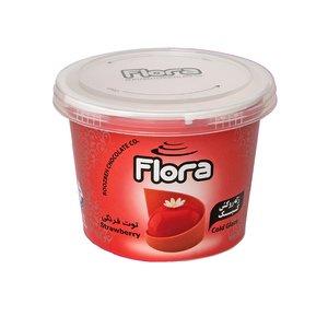 ژله تزیین کیک و شیرینی با طعم توت فرنگی فلورا - 300 گرم