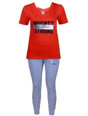 ست تی شرت و لگینگ زنانه یشیم کد YS1102 -  - 1