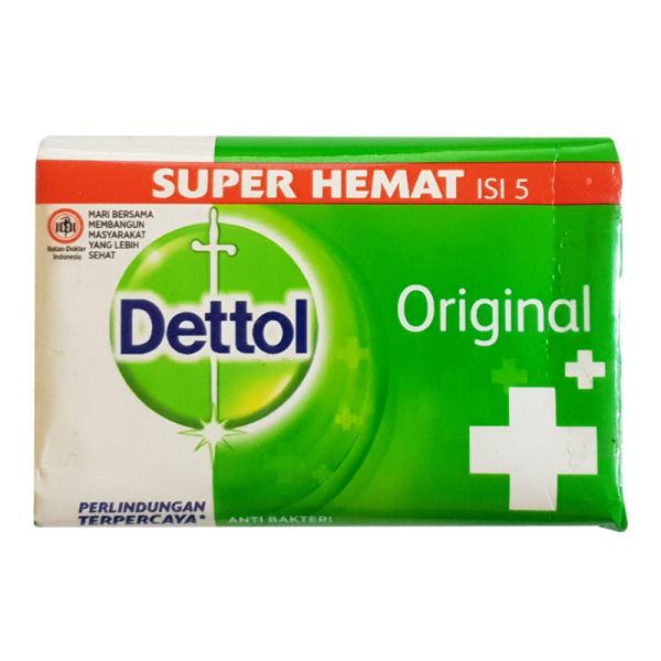 صابون ضد باکتری دتول مدل original وزن 105 گرممجموعه 5 عددی