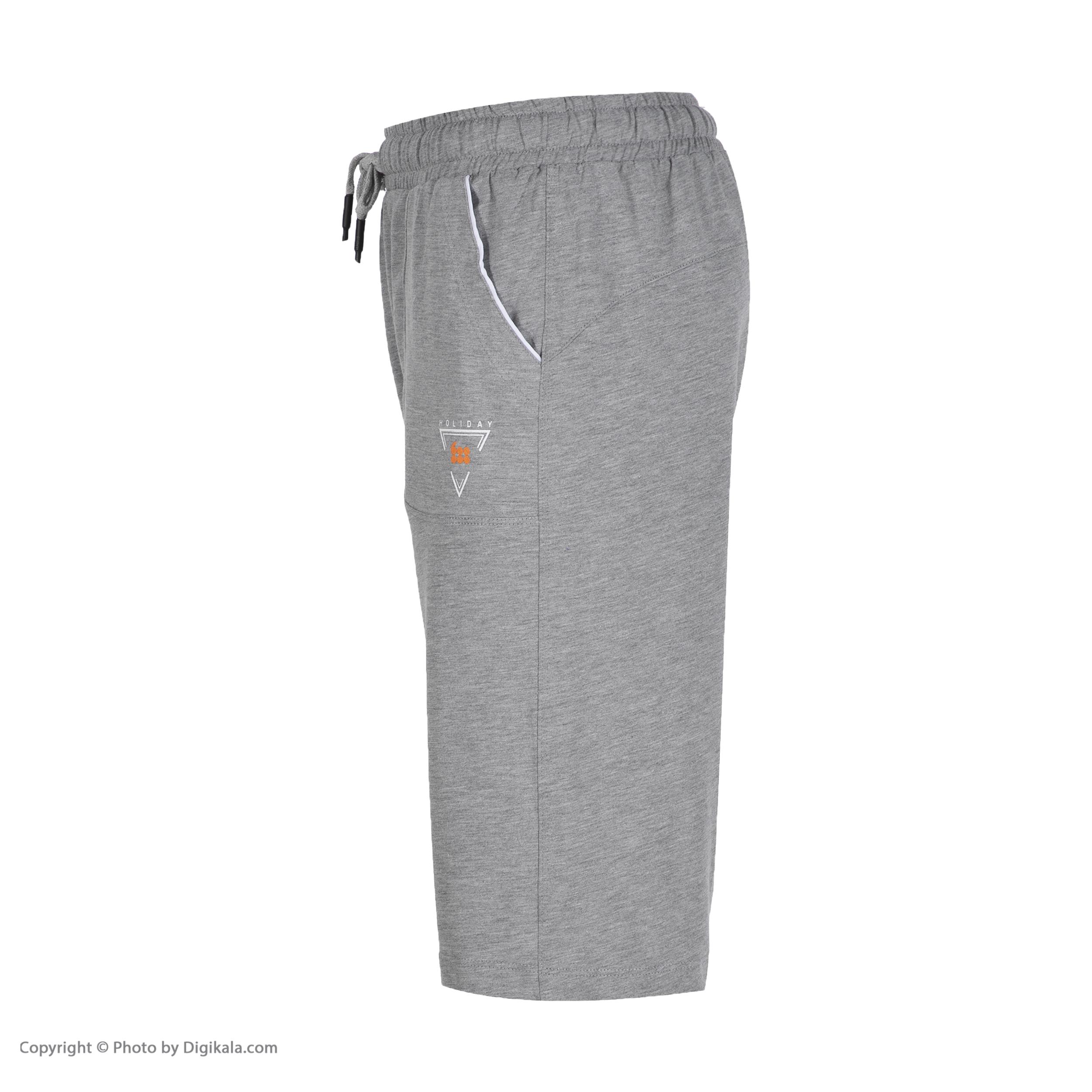 شلوارک ورزشی مردانه هالیدی مدل 806622-light gray
