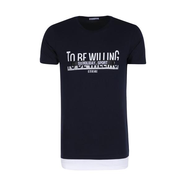 تی شرت ورزشی مردانه هالیدی مدل 803904-Navy blue