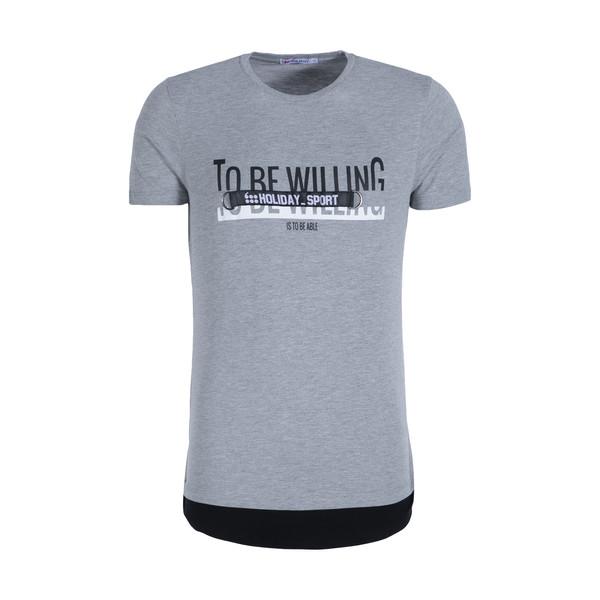 تی شرت ورزشی مردانه هالیدی مدل 803904-light gray