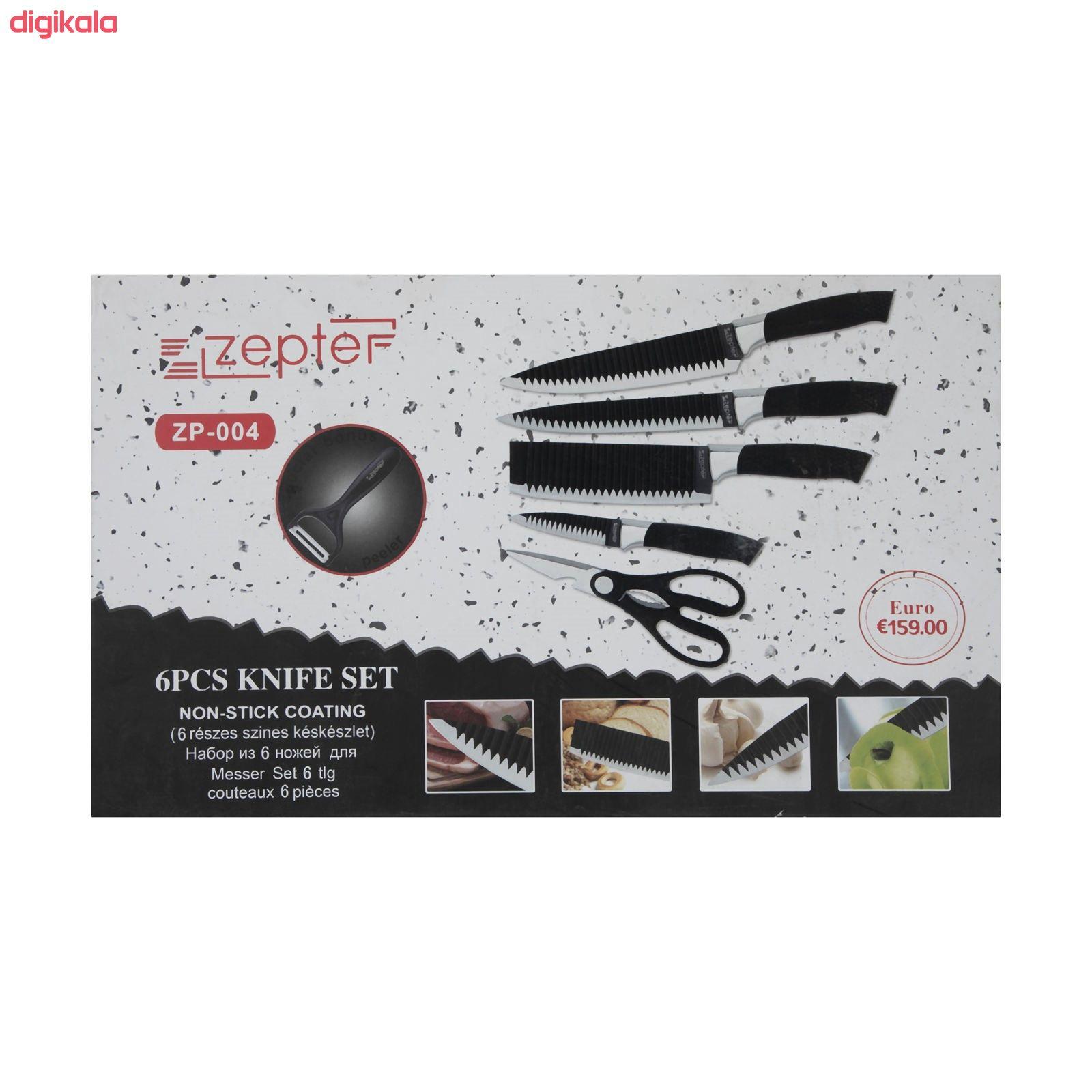 سرویس چاقو آشپزخانه 6 پارچه زپتف مدل ZP- 004 main 1 7