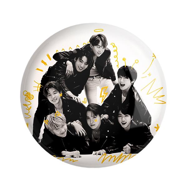 پیکسل خندالو طرح گروه موسیقی BTS کد 2510