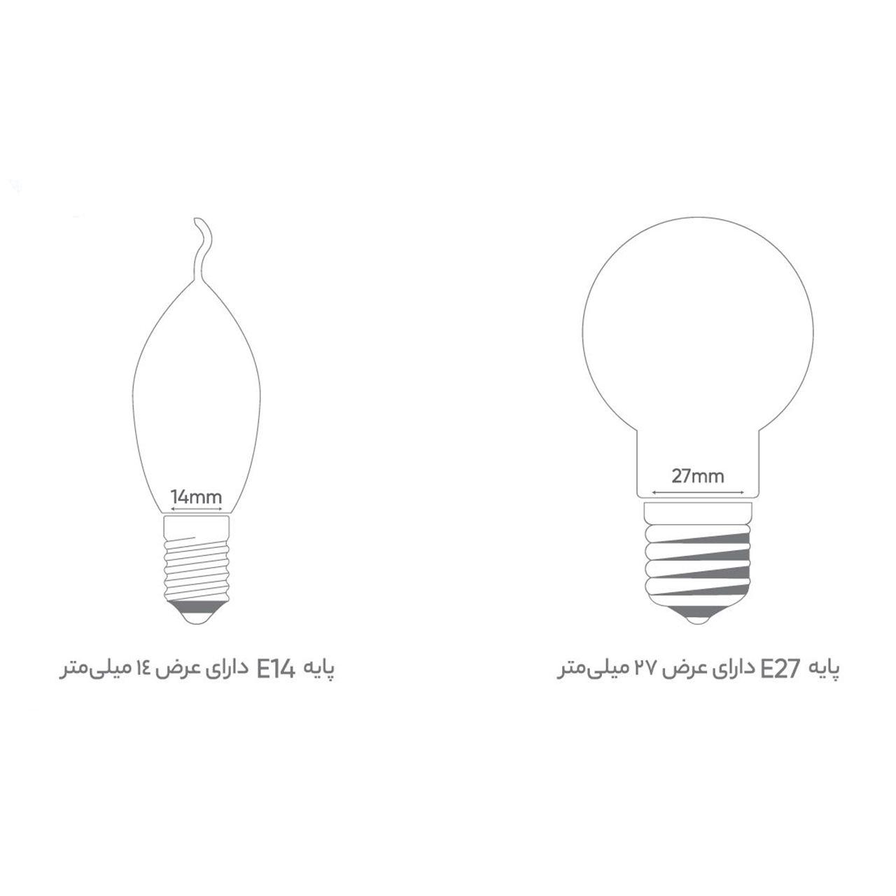 لامپ ال ای دی 12 وات کد B22 پایه E27  main 1 2