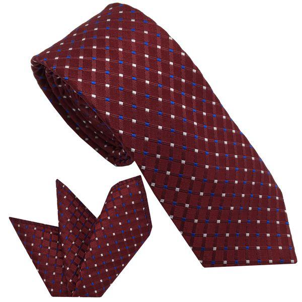 ست کراوات و دستمال جیب مردانه هکس ایران مدل KT-MD05