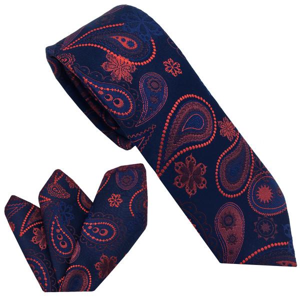 ست کراوات و دستمال جیب مردانه هکس ایران مدل KT-MD14