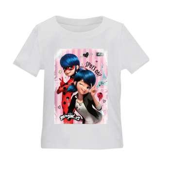 تی شرت بچگانه طرح دختر کفشدوزکی کد TSb39