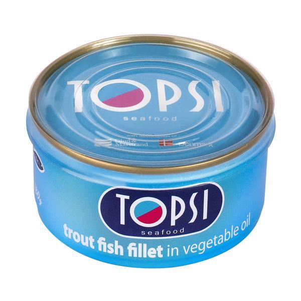 کنسرو ماهی قزل در روغن گیاهی تاپسی - 180 گرم