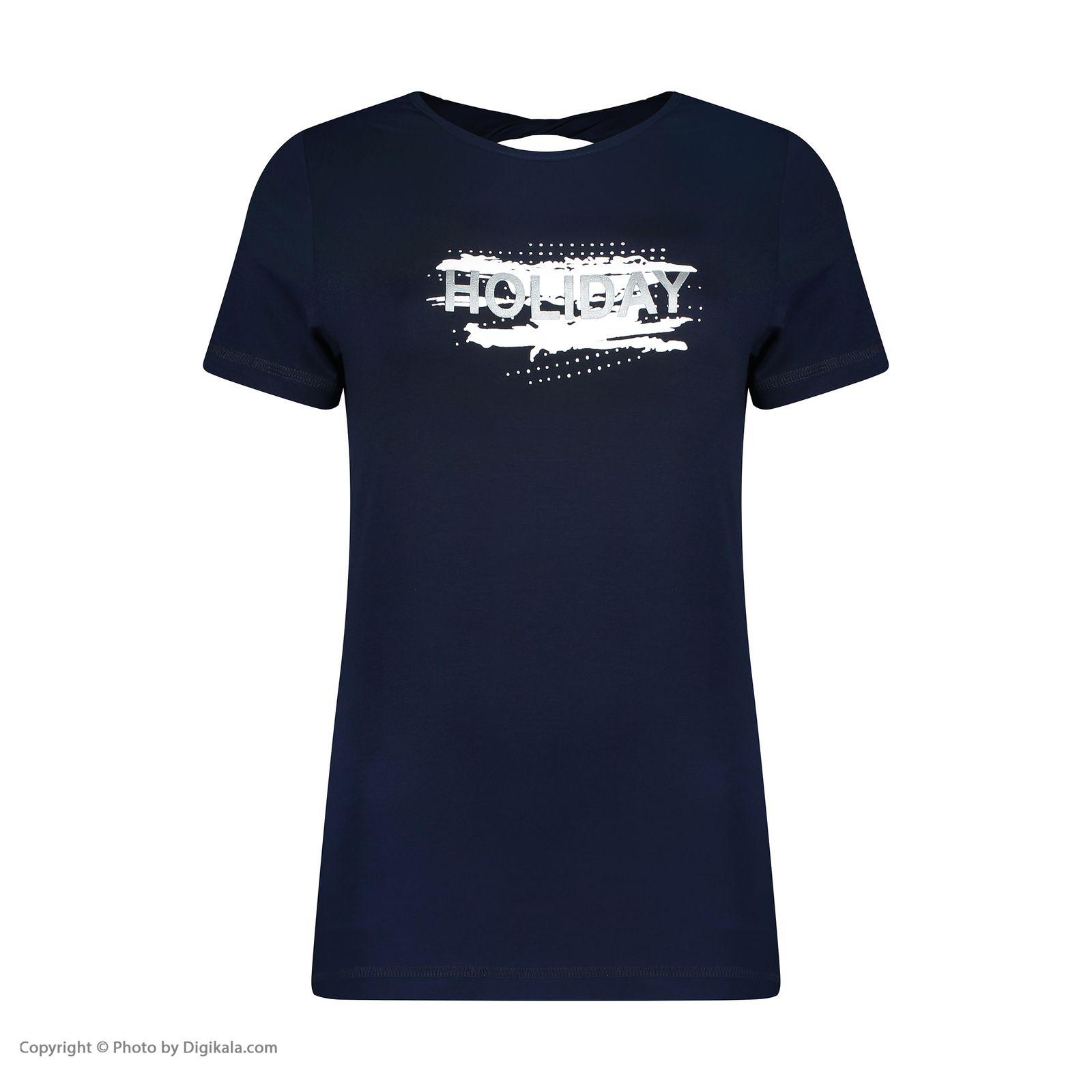 تصویر تی شرت ورزشی زنانه هالیدی مدل 801404-Navy blue