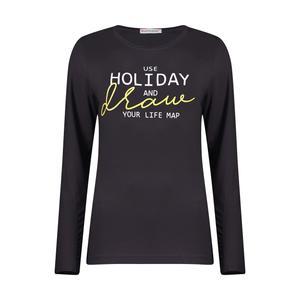 تی شرت ورزشی زنانه هالیدی مدل 804501-gray