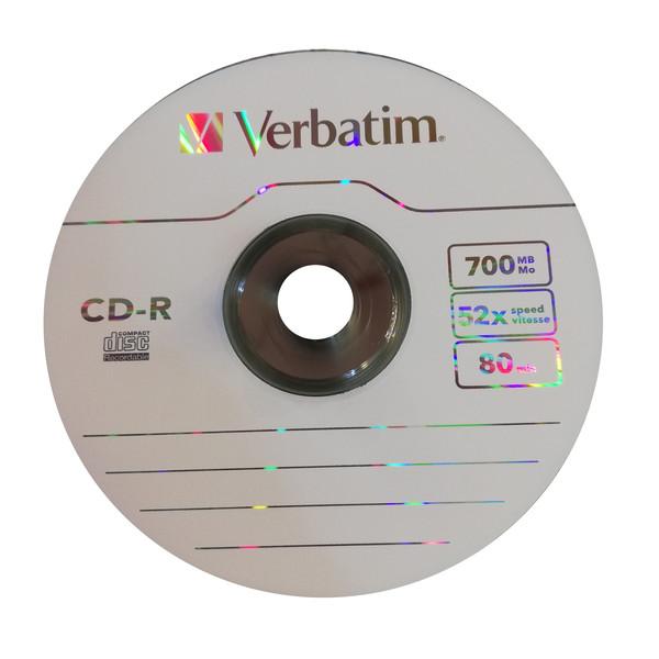 سی دی خام ورباتیم  مدل 52X بسته 10 عددی