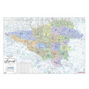 نقشه راهنمایی مناطق 22 گانه شهر تهران گیتاشناسی نوین کد1473