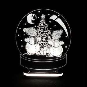 چراغ خواب کودک طرح گوی آدم برفی