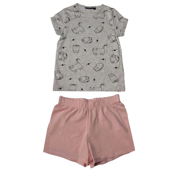 ست تی شرت و شلوارک دخترانه کیابی مدل mesbp033