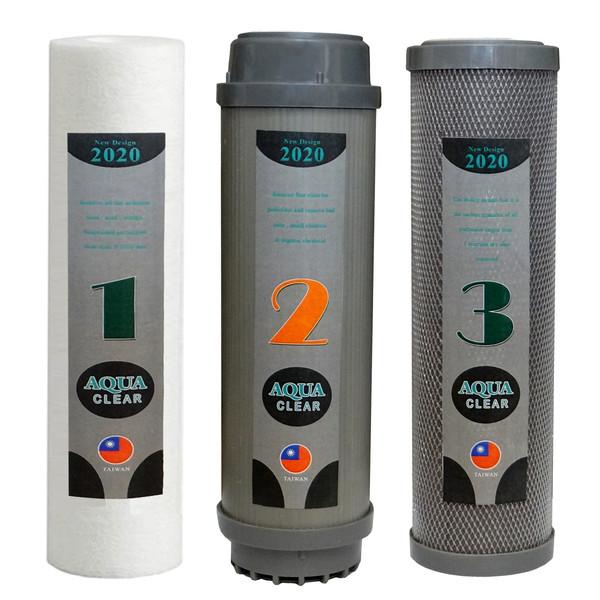 فیلتر تصفیه کننده آب آکوآ کلیر مدل SUPERB FILTER 3A مجموعه 3 عددی