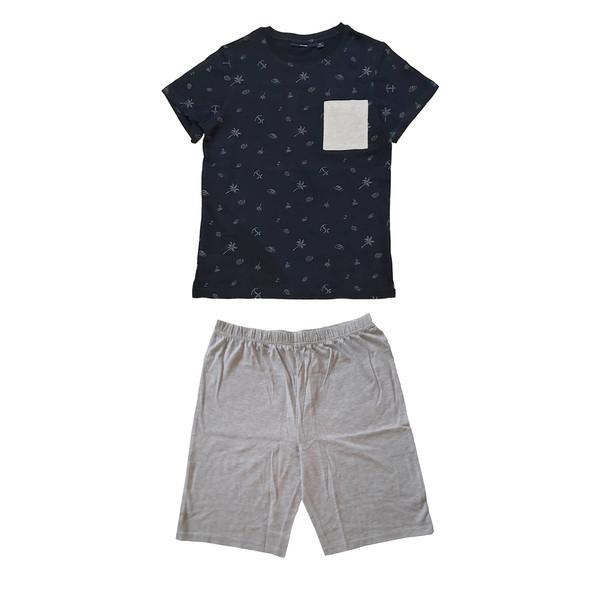 ست تی شرت و شلوارک پسرانه کیابی مدل mchbp003