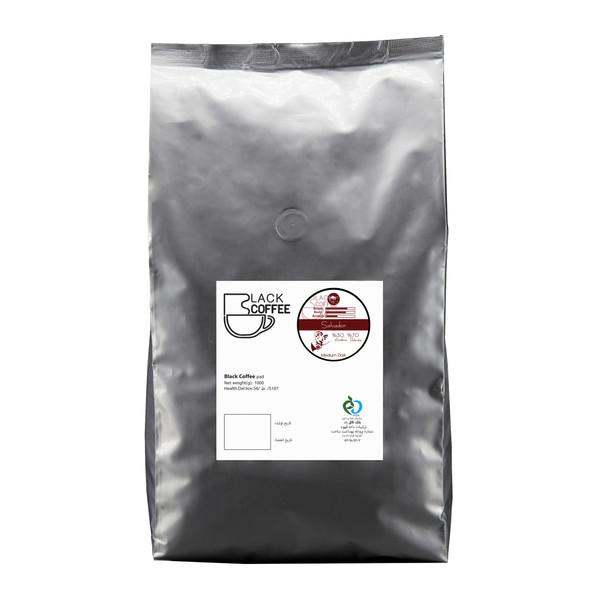 دانه قهوه سالوادور مدیوم دارک بلک کافی 1000 گرم