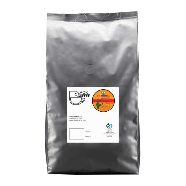 دانه قهوه ایندیانا مدیوم دارک بلک کافی 1000 گرم