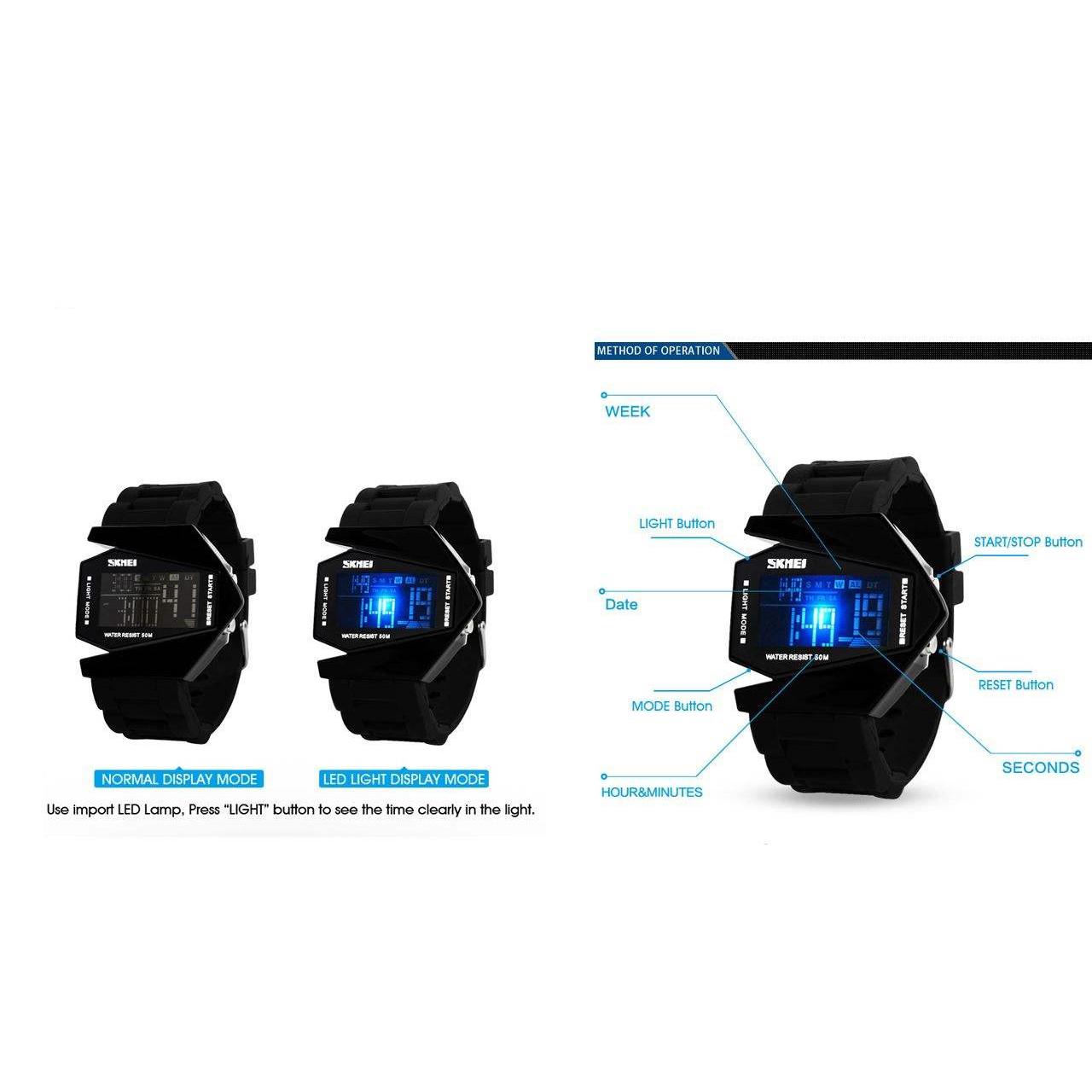 خرید اینترنتی                     ساعت مچی دیجیتال مردانه اسکمی مدل 0817M کد 03