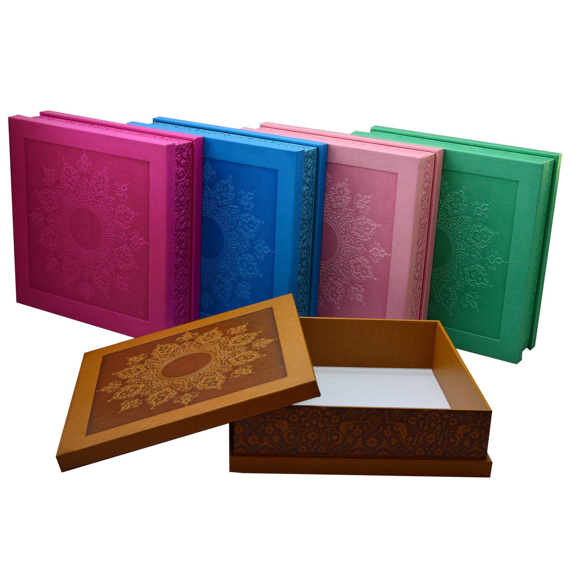 خرید                       جعبه هدیه چرمی مدل مربعی کد 100