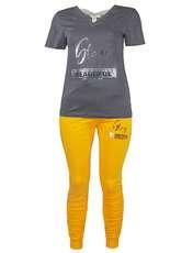 ست تی شرت و شلوار زنانه یشیم کد YS1096 -  - 1
