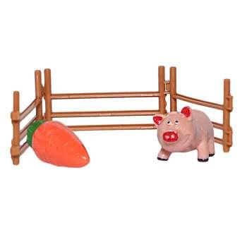 فیگور طرح مزرعه حیوانات مدل خوک کد 01 بسته 3 عددی