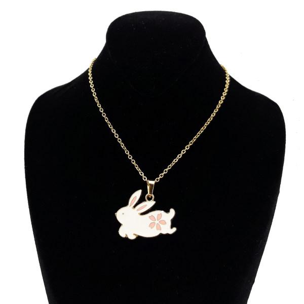 گردنبند دخترانه طرح خرگوش کد 200