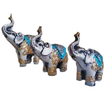 مجسمه طرح فیل کد۲۳۰۱ مجموعه سه عددی