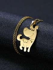 گردنبند نقره زنانه ترمه 1 طرح سگ کد A-620 -  - 6