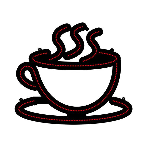 تابلو ال ای دی طرح فنجان قهوه کد 1