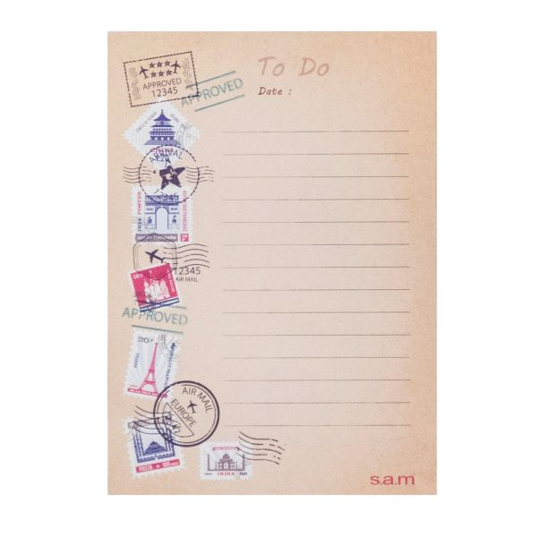 کاغذ یادداشت  سم مدل یادآور طرح تمبر  بسته 50 عددی