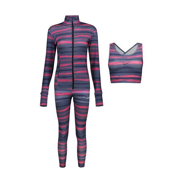 ست 3 تکه لباس ورزشی زنانه کد 009