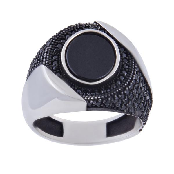 انگشتر نقره مردانه بازرگانی میلادی کد AM_213