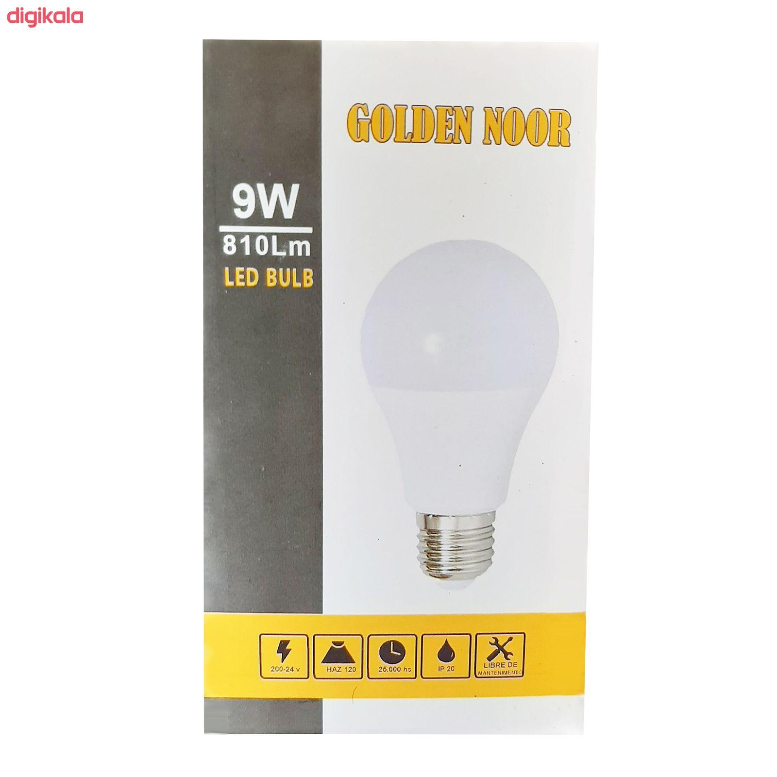 لامپ ال ای دی 9 وات گلدن نور مدل gn9 پایه E27 main 1 3