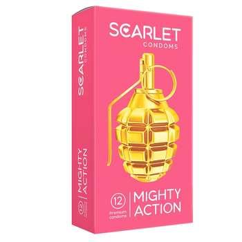 کاندوم اسکارلت مدل MIGHTY ACTION بسته ۱۲ عددی