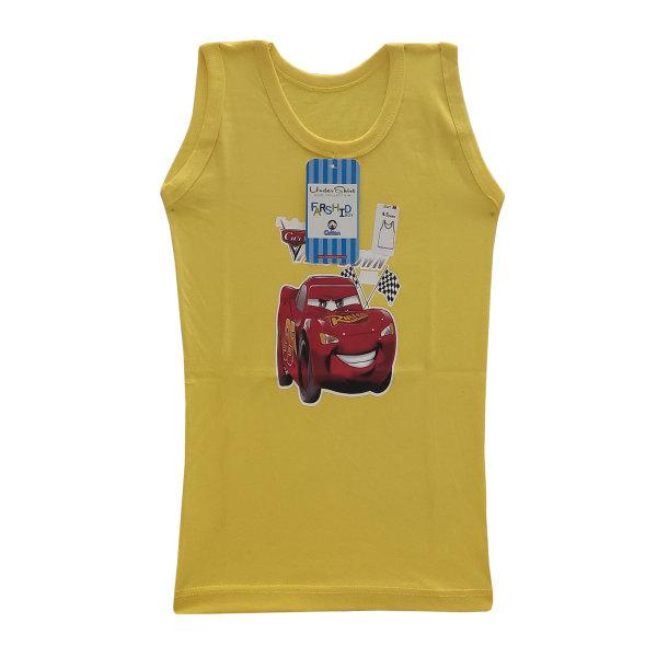 زیرپوش پسرانه فرشید طرح ماشین مککویین کد 30510 رنگ زرد