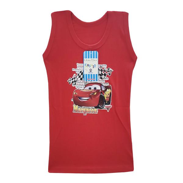 زیرپوش پسرانه فرشید طرح ماشین مککویین کد 30510 رنگ قرمز