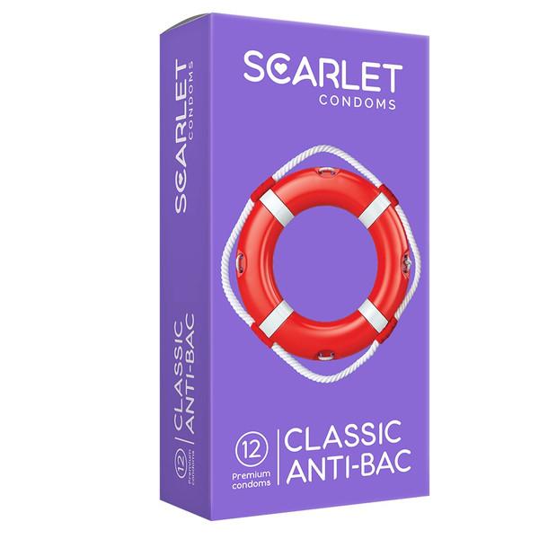 کاندوم اسکارلت مدل CLASSIC ANTI-BAC بسته ۱۲ عددی