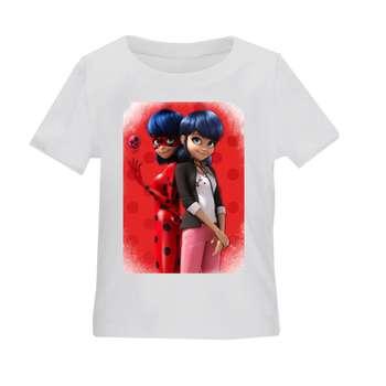 تی شرت بچگانه طرح دختر کفشدوزکی کد TS36