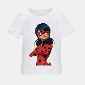 تی شرت بچگانه طرح دختر کفشدوزکی کد TSb29