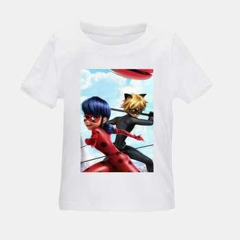 تی شرت بچگانه طرح دختر کفشدوزکی کد TSb28