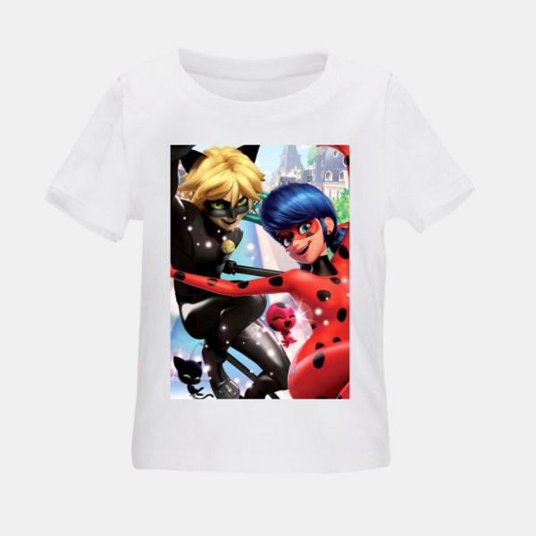 تی شرت بچگانه طرح دختر کفشدوزکی کد TSb23