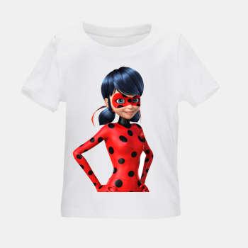 تی شرت بچگانه مدل دختر کفشدوزکی کد TSb21