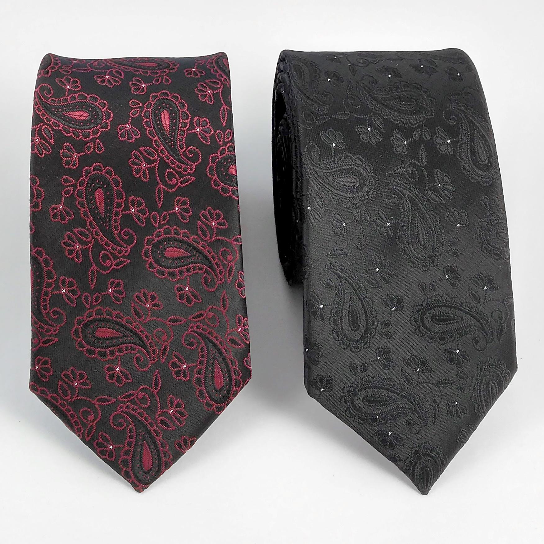 ست کراوات و دستمال جیب و دکمه سر دست مردانه کد 423