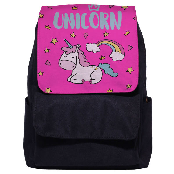 کوله پشتی دخترانه طرح unicorn کد 3006