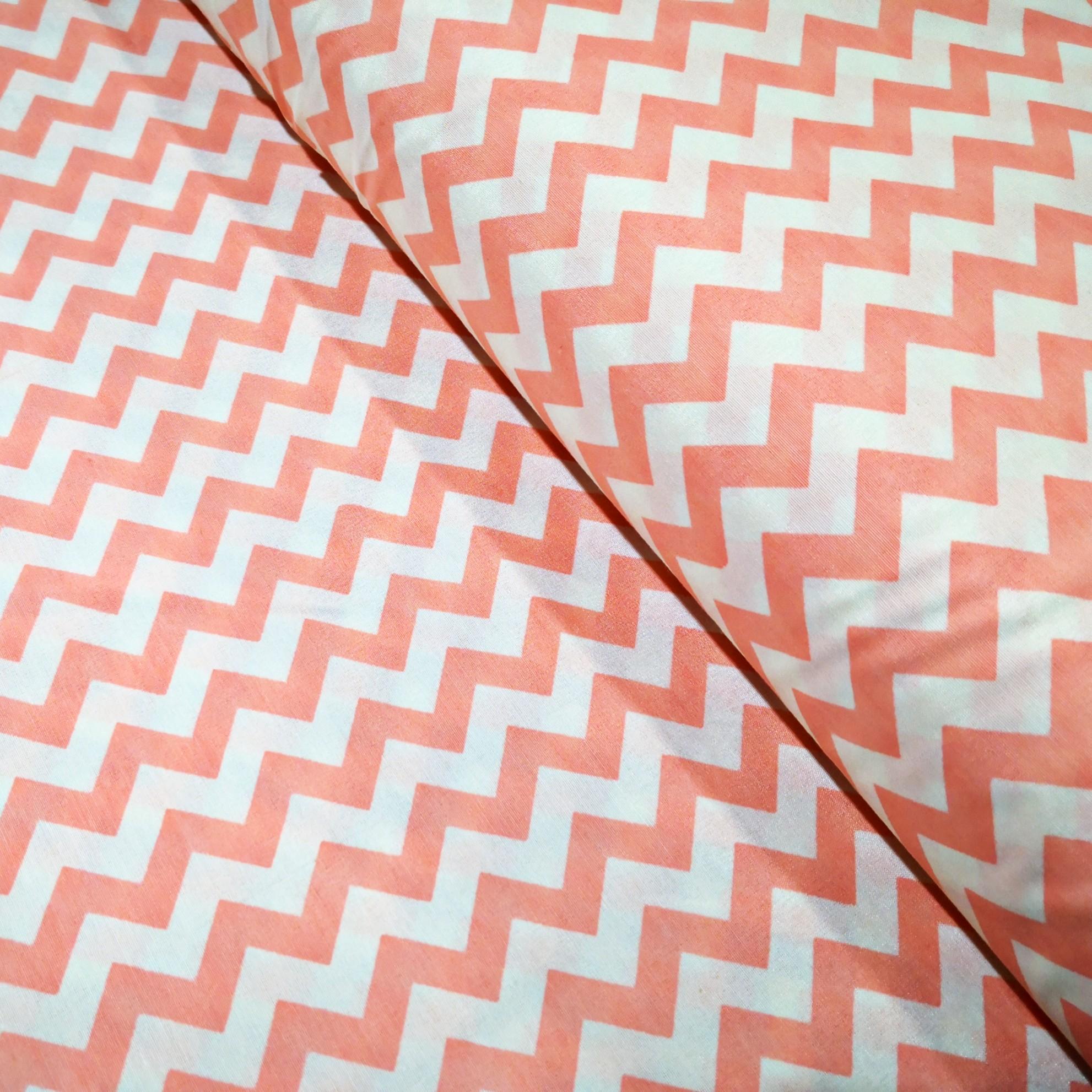 خرید                      پارچه  ملحفه طرح zigzag کد W2